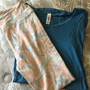 NWT Lularoe OS leggings and XS Perfect Tee